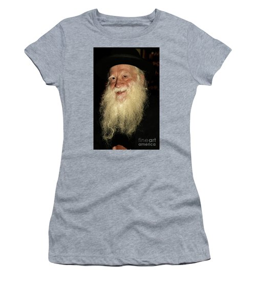 Women's T-Shirt (Junior Cut) featuring the photograph Smiling Picture Of Rabbi Yehuda Zev Segal by Doc Braham