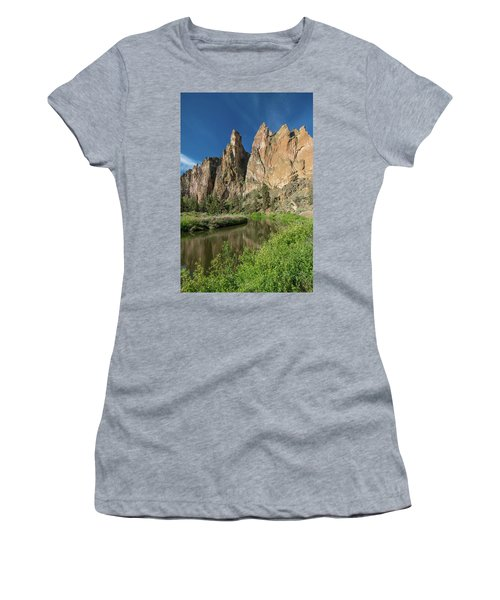 Smith Rock Spires Women's T-Shirt (Junior Cut) by Greg Nyquist
