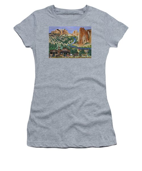 Smith Rock State Park Women's T-Shirt (Athletic Fit)