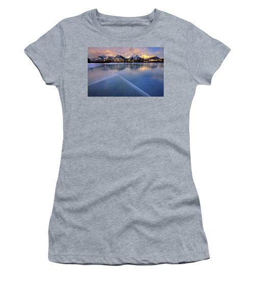 Women's T-Shirt (Junior Cut) featuring the photograph Smooth Ice by Dan Jurak