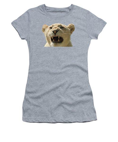 Women's T-Shirt (Junior Cut) featuring the photograph Snarling Lion by Scott Carruthers