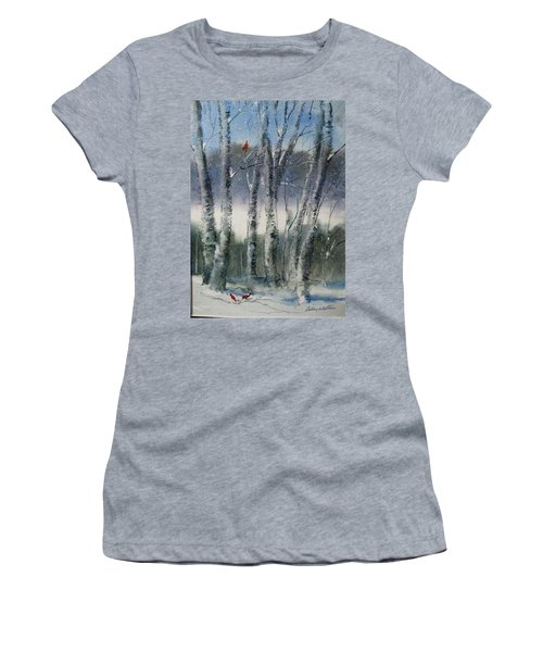 Snow Birch  Women's T-Shirt (Athletic Fit)