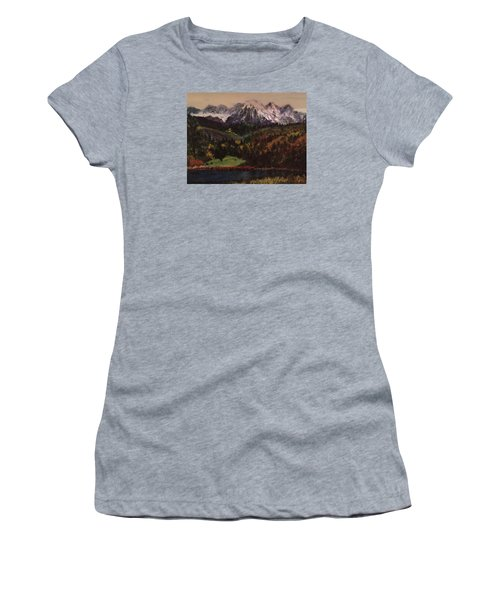 Snow Caped Mountain Women's T-Shirt (Athletic Fit)