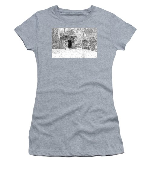 Snow Covered Chicken House Women's T-Shirt