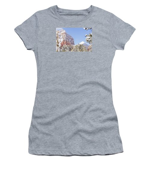 Snow Covered Women's T-Shirt (Junior Cut) by Laura Pratt