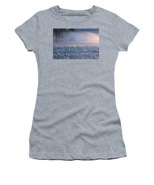 Snow Waves Women's T-Shirt (Athletic Fit)