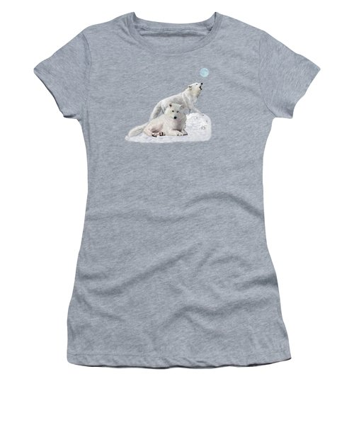 Snow Wolves Of The Wild Women's T-Shirt (Athletic Fit)