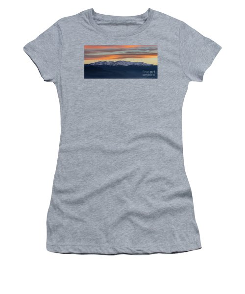 Snowcapped Miapor Range Under Golden Clouds, Armenia Women's T-Shirt (Athletic Fit)