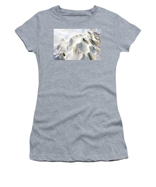 Women's T-Shirt (Athletic Fit) featuring the photograph Snowdrifts In Snow At Winter by John Williams