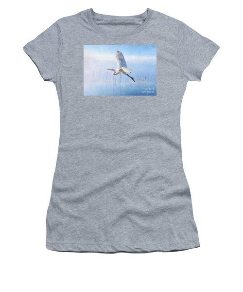 Snowy Egret Morning Women's T-Shirt