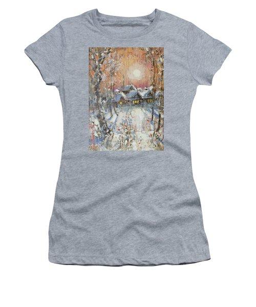 Snowy Village Women's T-Shirt