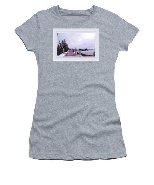 Women's T-Shirt (Junior Cut) featuring the photograph Soft Winter Day by Felipe Adan Lerma