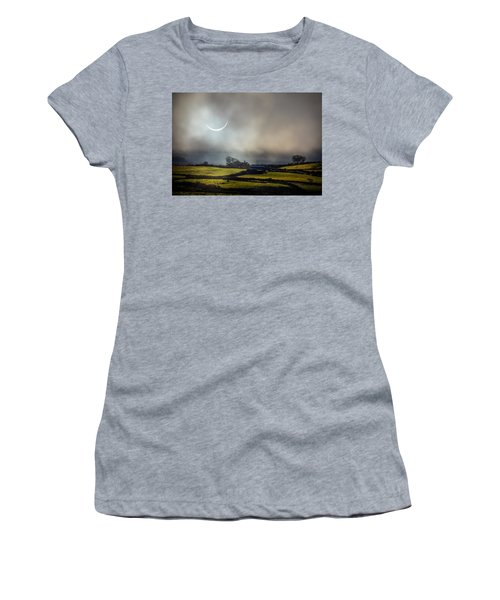 Solar Eclipse Over County Clare Countryside Women's T-Shirt