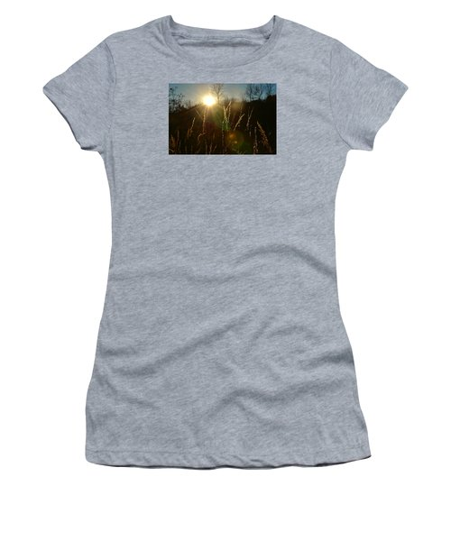 Women's T-Shirt (Junior Cut) featuring the photograph Solar Flares by Nikki McInnes