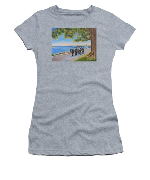 Southport Stroll Women's T-Shirt (Junior Cut) by Shelia Kempf