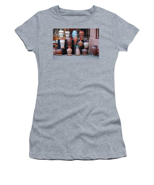 Women's T-Shirt (Junior Cut) featuring the photograph Southwestern Potery by Rob Hans