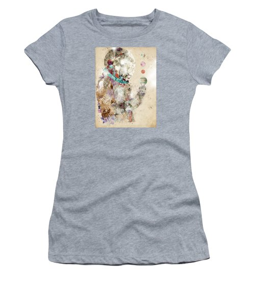 Women's T-Shirt (Junior Cut) featuring the painting Spaceman by Bri B