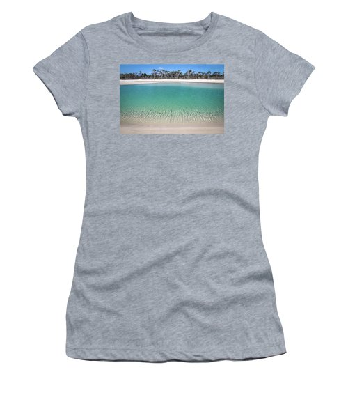 Sparkling Beach Lagoon On Deserted Beach Women's T-Shirt