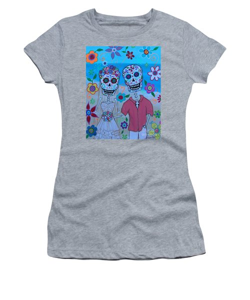 Women's T-Shirt (Athletic Fit) featuring the painting Special Mexican Wedding by Pristine Cartera Turkus