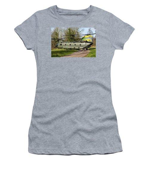 Special Tail Chinook 27 Squadron Women's T-Shirt (Junior Cut) by Ken Brannen