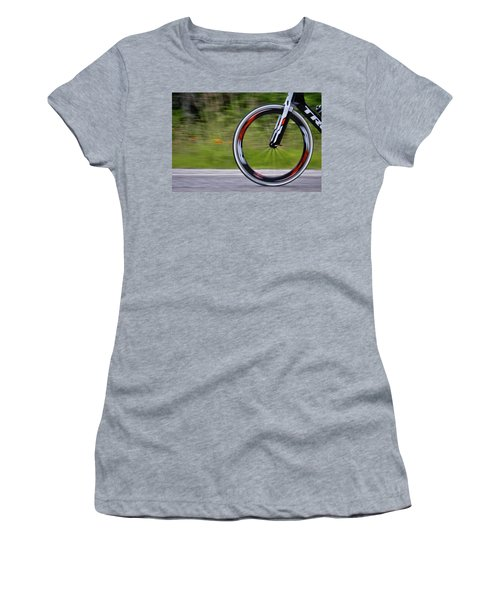 Women's T-Shirt (Junior Cut) featuring the photograph Speed Of Life by Linda Unger