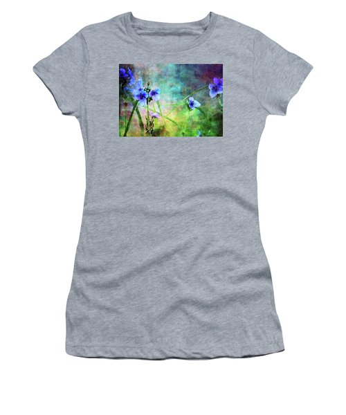 Spiderwort Dance 0115 Idp_2 Women's T-Shirt (Athletic Fit)