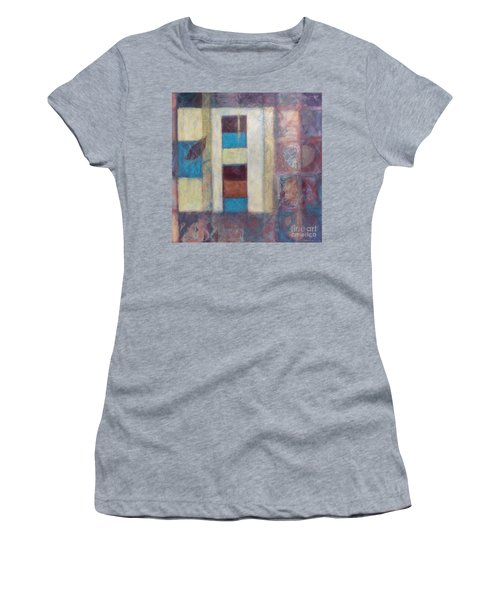 Women's T-Shirt (Junior Cut) featuring the painting Spirit Of Gold - States Of Being by Kerryn Madsen- Pietsch