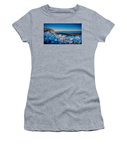 Split Rock Lighthouse With Ice Balls Women's T-Shirt