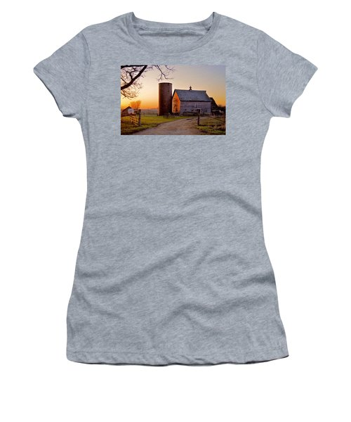Spring At Birch Barn Women's T-Shirt (Athletic Fit)