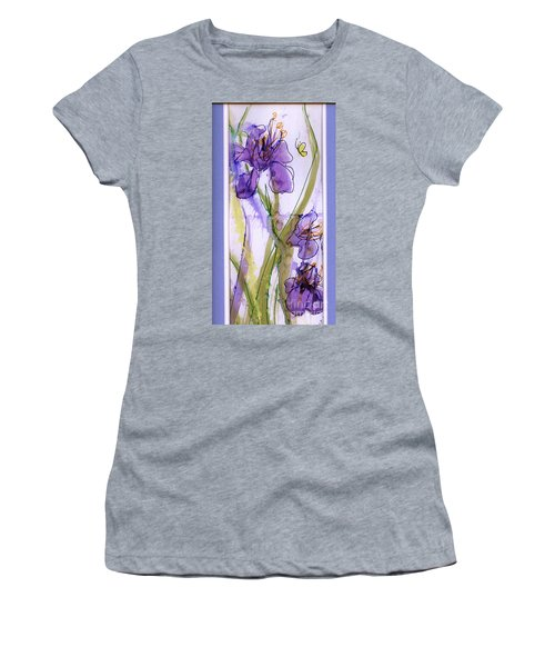 Women's T-Shirt (Junior Cut) featuring the painting Spring Fling by P J Lewis