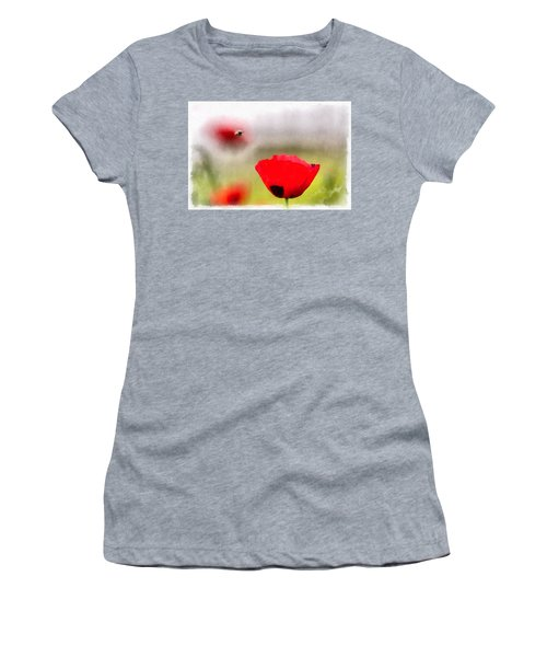 Spring Flowering Poppies Women's T-Shirt