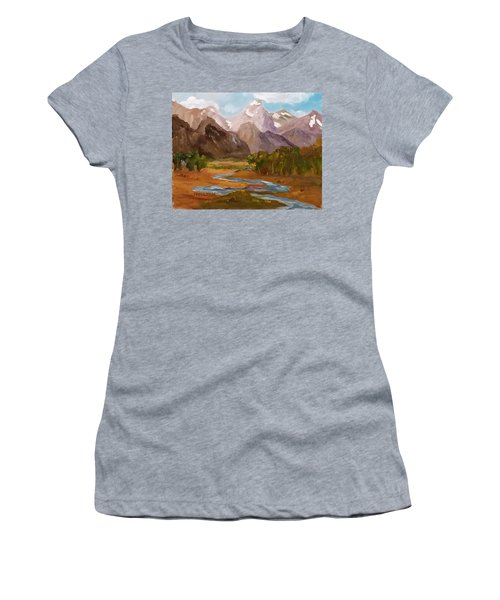 Spring In The Tetons Women's T-Shirt (Athletic Fit)