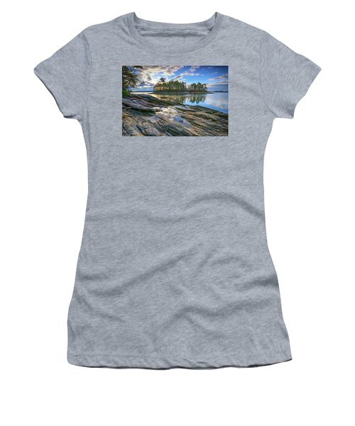 Women's T-Shirt (Junior Cut) featuring the photograph Spring Morning At Wolfe's Neck Woods by Rick Berk