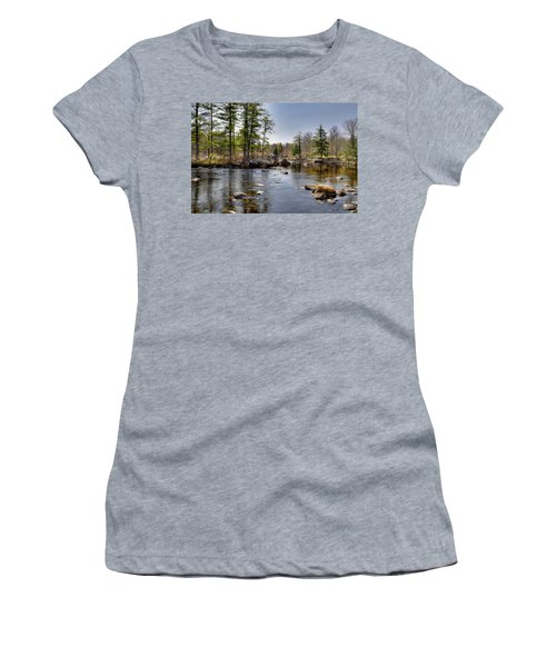Women's T-Shirt (Junior Cut) featuring the photograph Spring Near Moose River Road by David Patterson