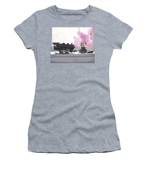 Spring Rain  Electric Train Women's T-Shirt