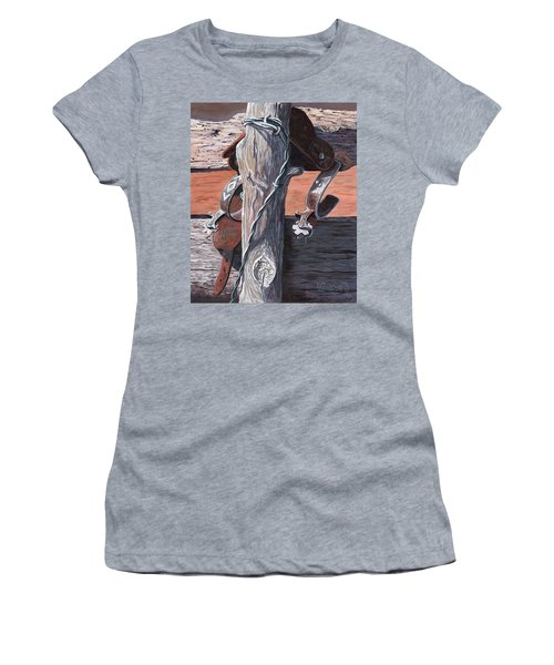 Spurs Needing Boots Women's T-Shirt (Athletic Fit)