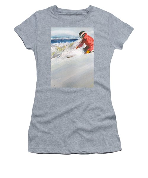 Women's T-Shirt (Junior Cut) featuring the painting Beaver Creak by Ed Heaton