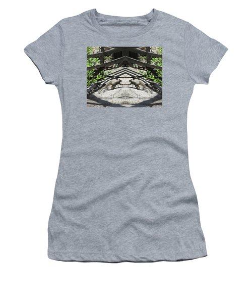 Squirrels Dancing On A Bridge Women's T-Shirt