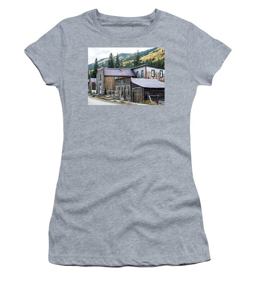 Women's T-Shirt (Athletic Fit) featuring the photograph St. Elmo A Colorado Ghost Town by Nadja Rider
