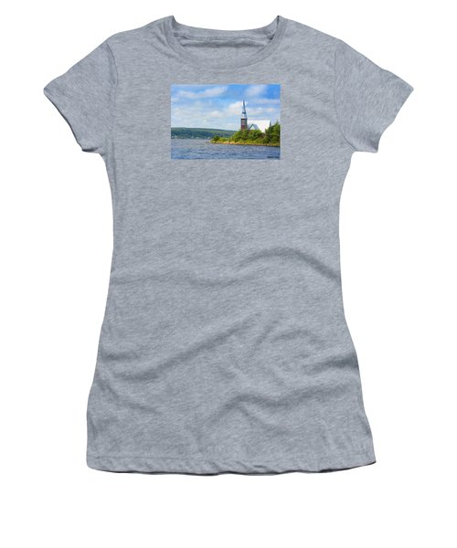 St Marks In Middle Lahave Nova Scotia Women's T-Shirt (Junior Cut) by Ken Morris