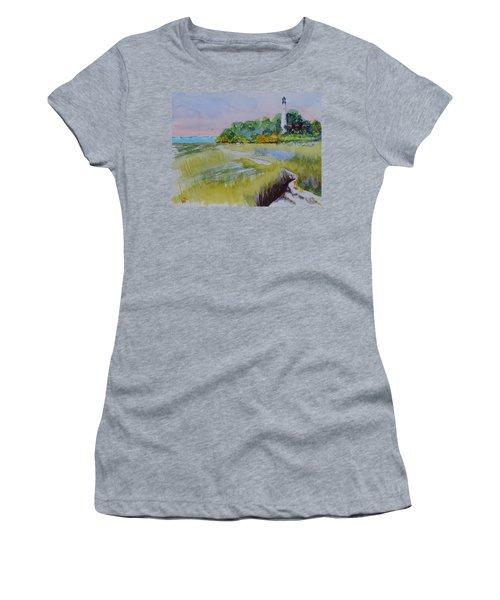 St. Marks Lighthouse Beachfront Women's T-Shirt (Junior Cut) by Warren Thompson