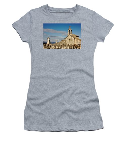 St. Pantaleon Church,  Luberon, France Women's T-Shirt