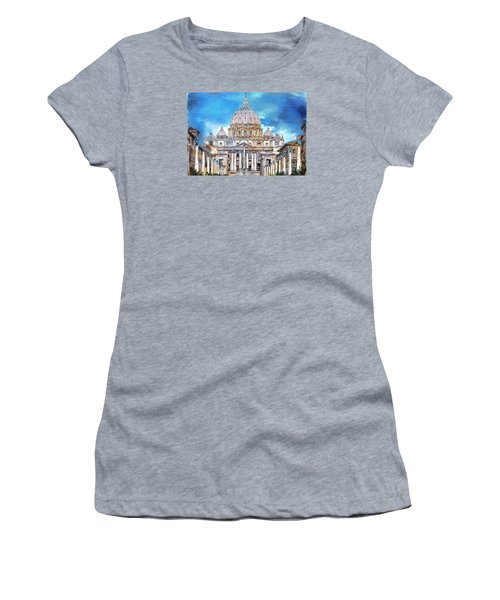 St. Peter's Basilica Women's T-Shirt (Athletic Fit)