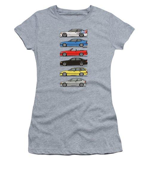 Stack Of E36 Variants Women's T-Shirt