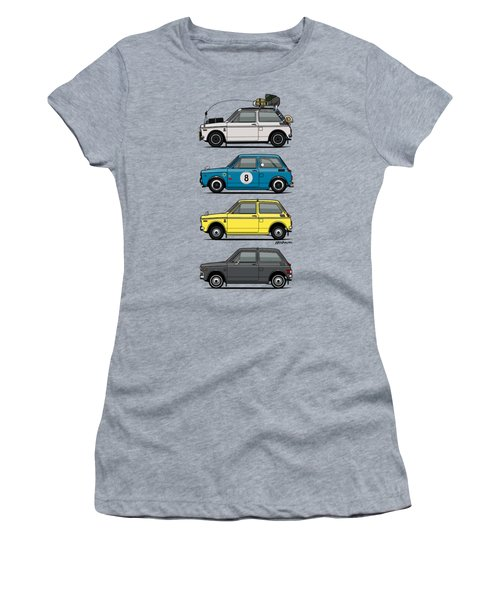 Stack Of Honda N360 N600 Kei Cars Women's T-Shirt
