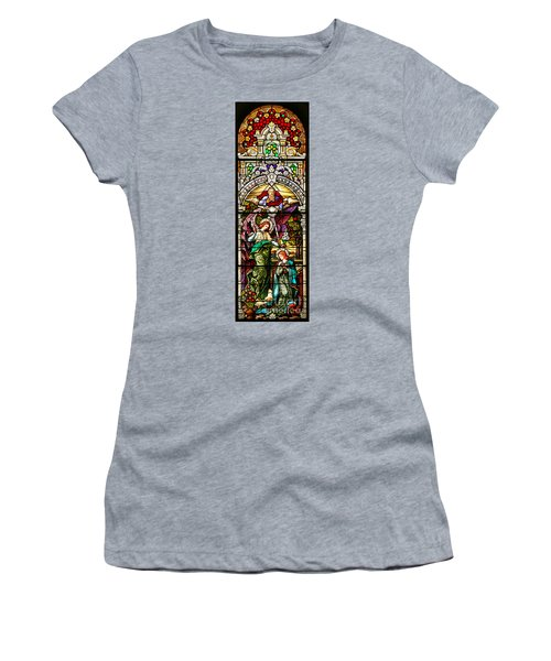 Women's T-Shirt (Junior Cut) featuring the photograph Stained Glass Scene 5 by Adam Jewell