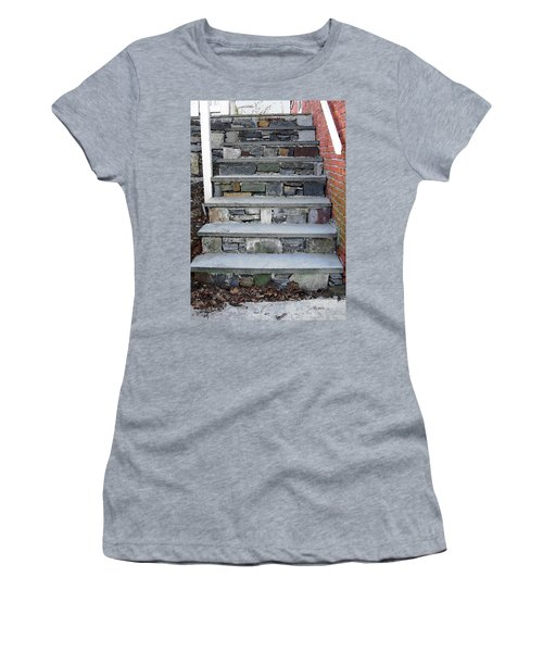 Women's T-Shirt (Junior Cut) featuring the photograph Stairs To The Plague House by RC DeWinter