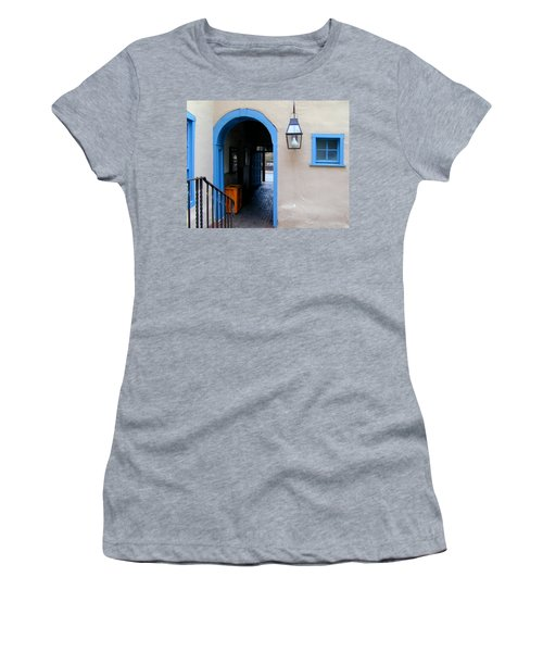 Women's T-Shirt featuring the photograph Stairs To The Tunnel To The Door by Joseph R Luciano