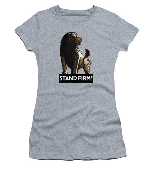 Stand Firm Lion - Ww2 Women's T-Shirt (Athletic Fit)
