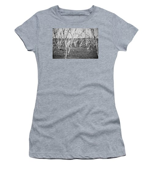 Standing Still Women's T-Shirt (Athletic Fit)